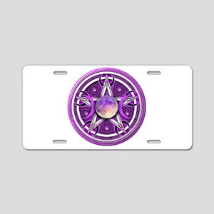 Purple Triple Goddess Pentacle Aluminum License Pl