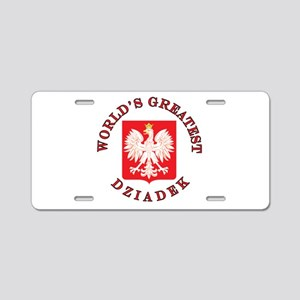 World's Greatest Dziadek Crest Aluminum License Pl
