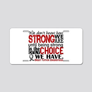 Brain Tumor How Strong We A Aluminum License Plate