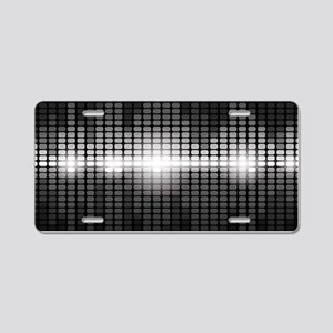 Sound Wave Aluminum License Plate