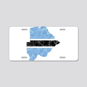 Botswana Flag And Map Aluminum License Plate