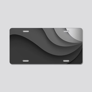 Black Abstract Aluminum License Plate