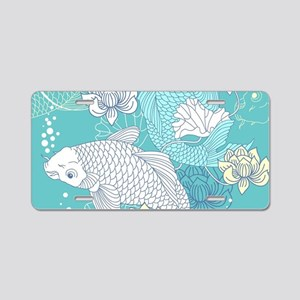 Koi Fish Aluminum License Plate