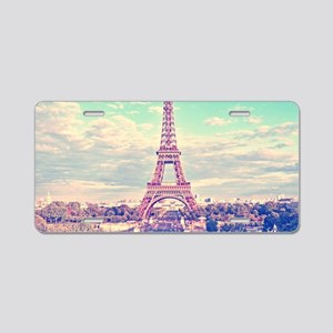Eiffel Tower Aluminum License Plate
