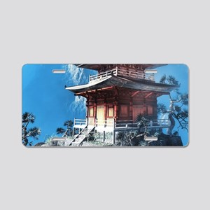 Zen Temple Aluminum License Plate