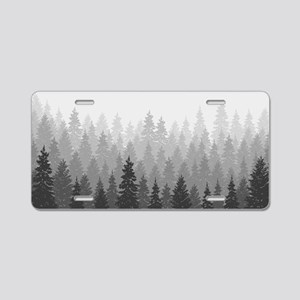 Gray Forest Aluminum License Plate