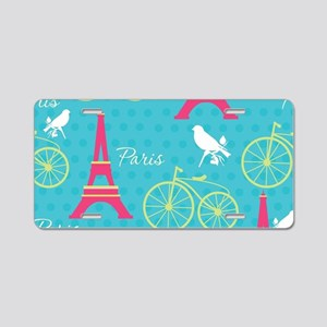 Paris Aluminum License Plate