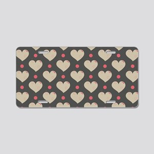 Hearts Pattern Aluminum License Plate