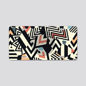 Abstract Pattern Aluminum License Plate