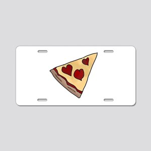 Piece of My Heart Pizza Sli Aluminum License Plate
