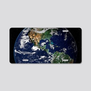 art Earth from space NASA Aluminum License Plate