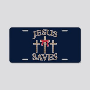 Jesus Saves Aluminum License Plate