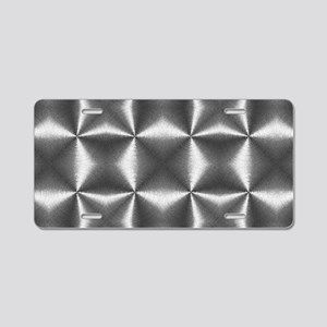 silver geometric pattern ab Aluminum License Plate