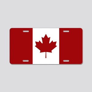 Canada: Canadian Flag (Red Aluminum License Plate