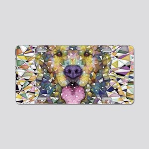Rainbow Dog Aluminum License Plate