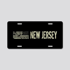 Black Flag: New Jersey Aluminum License Plate