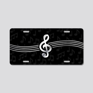 Stylish clef on musical not Aluminum License Plate