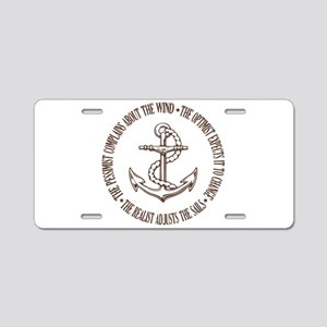 The Realist Sailor Aluminum License Plate