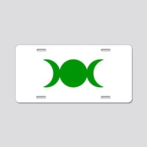 Green Triple Goddess Aluminum License Plate