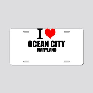 I Love Ocean City, Maryland Aluminum License Plate