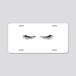 EYELASHES GALAXY Aluminum License Plate