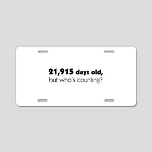 60th Birthday Aluminum License Plate