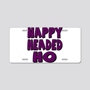 Nappy Headed Ho Purple Design Aluminum License Pla