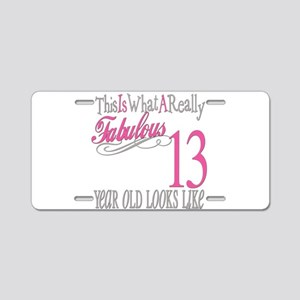 13th Birthday Gifts Aluminum License Plate