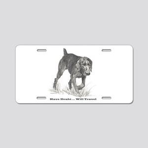 German Wire Haired Pointer sl Aluminum License Pla