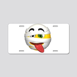 Goofy Mummy Licking Face Aluminum License Plate