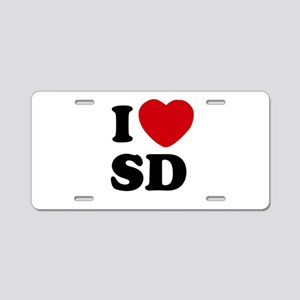 I Heart SD San Diego Aluminum License Plate