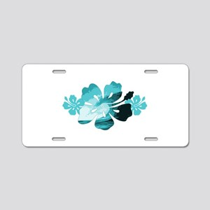 Hibiscus Surf - Aluminum License Plate