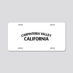 Carpinteria Valley California Aluminum License Pla