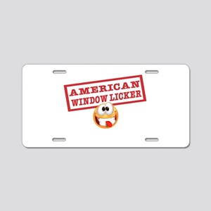American Window Licker Aluminum License Plate