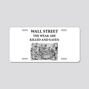 wall street Aluminum License Plate