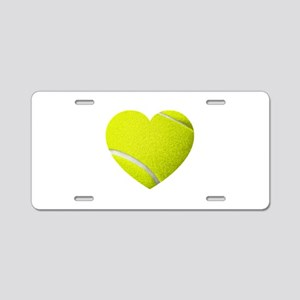 Tennis Heart Aluminum License Plate