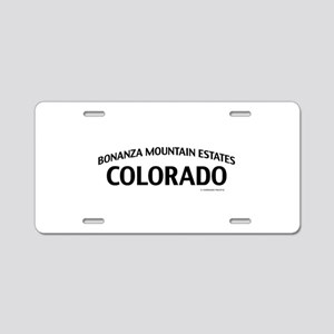 Bonanza Mountain Estates Colorado Aluminum License