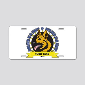 Personalized K9 German Shepherd Aluminum License P