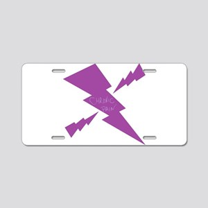 Chronic Pain Lightening Aluminum License Plate
