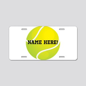 Personalized Tennis Ball Aluminum License Plate