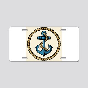 Roped Anchor Aluminum License Plate