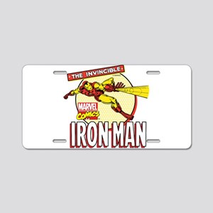 Iron Man Action Aluminum License Plate