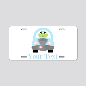 Personalizable Frog Driving Car Aluminum License P