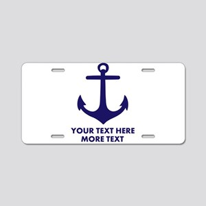 Nautical boat anchor Aluminum License Plate