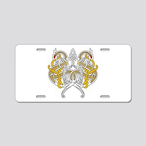 Celtic Dragons Intertwined Aluminum License Plate