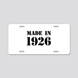 Made in 1926 Aluminum License Plate