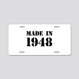 Made in 1948 Aluminum License Plate