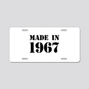 Made in 1967 Aluminum License Plate
