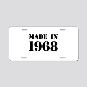 Made in 1968 Aluminum License Plate