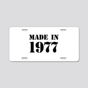 Made in 1977 Aluminum License Plate